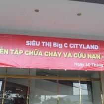 DIỄN TẬP PHÒNG CHÁY VÀ CỨU NẠN TẠI BIG C CITYLAND NĂM 2016